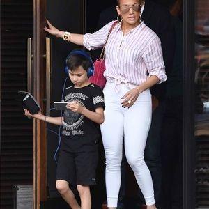 J Brand Maria High Rise Skinny in White